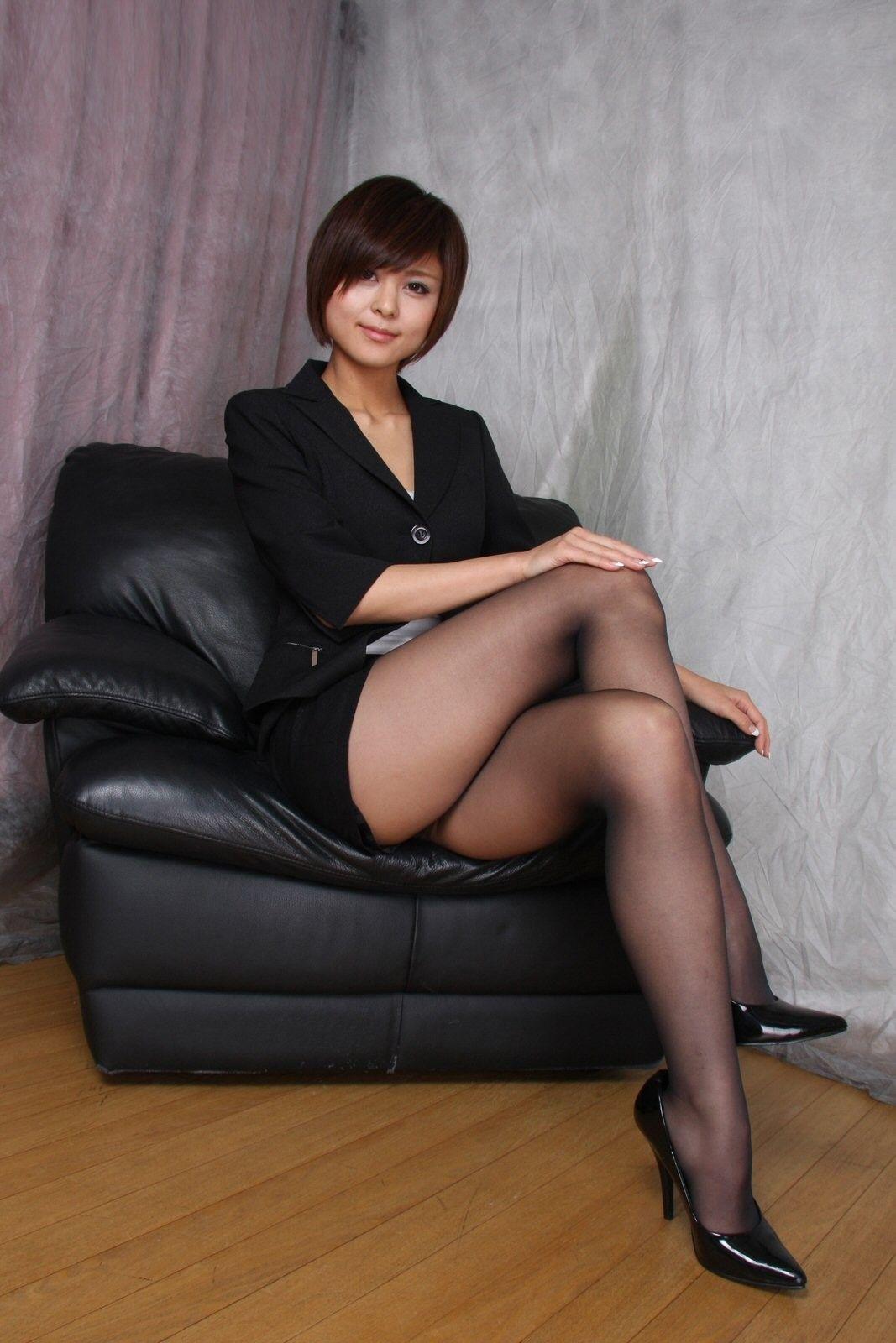 Nice Black Pantyhose She 18