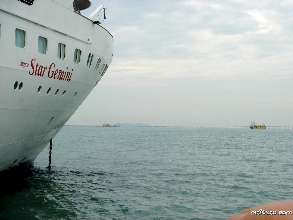 Star Cruises Trip (SuperStar Gemini) reaching Penang, Malaysia.
