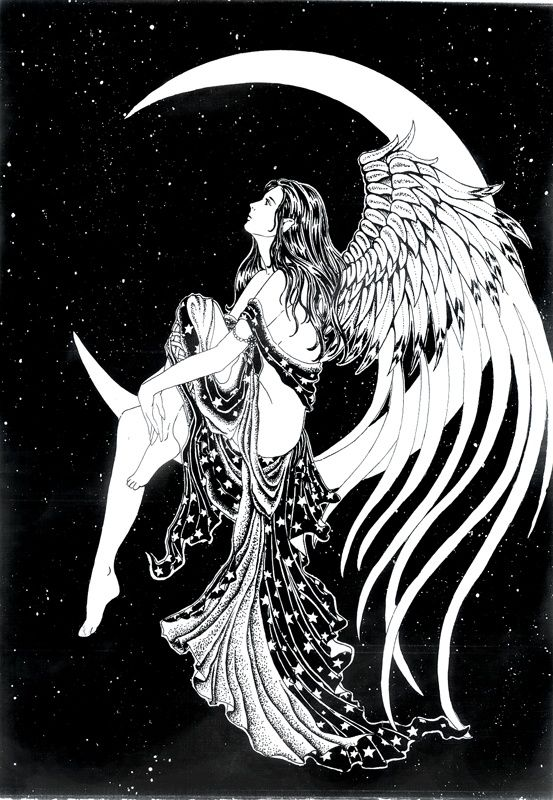 black and white fairy 2 | Fairy coloring pages, Fairy ...