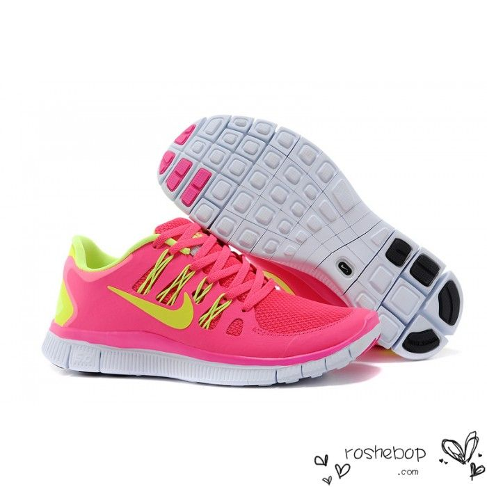 info for 76de7 d214c Nike Free Run 5.0 V2 Women Pink Yellow