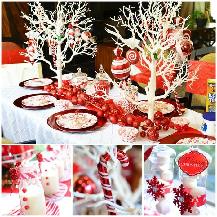 Candy Cane Winter Wonderland Themed Christmas Party