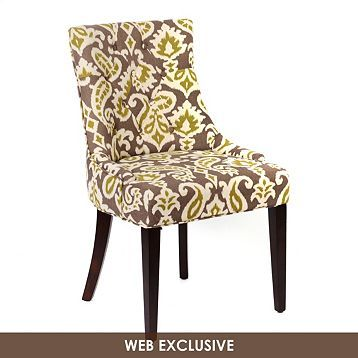 Gray & Green Ikat Torquay Accent Chair | Kirkland's - fun chairs for the living room