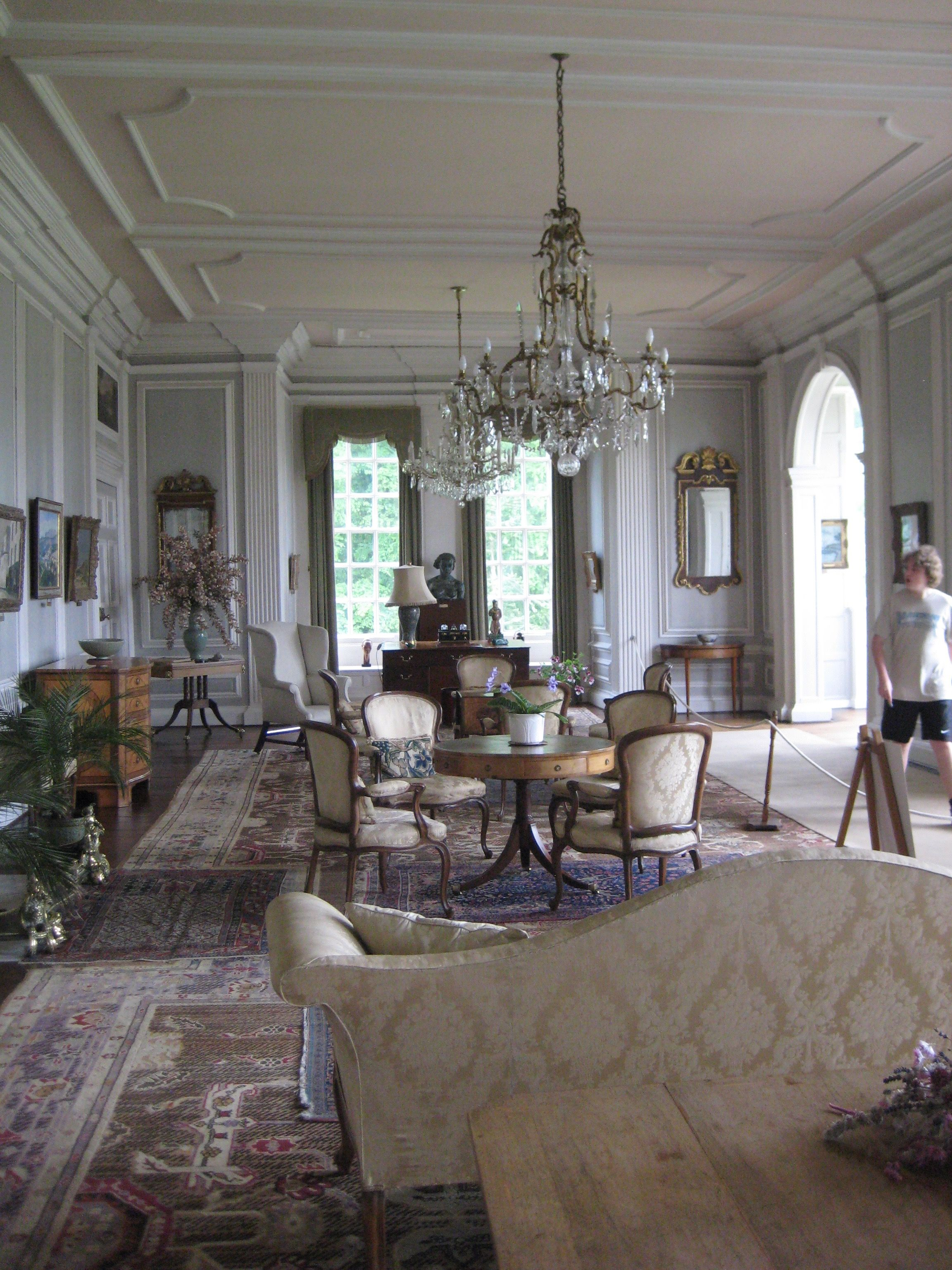 Inside House Drawing: English Country House Interior