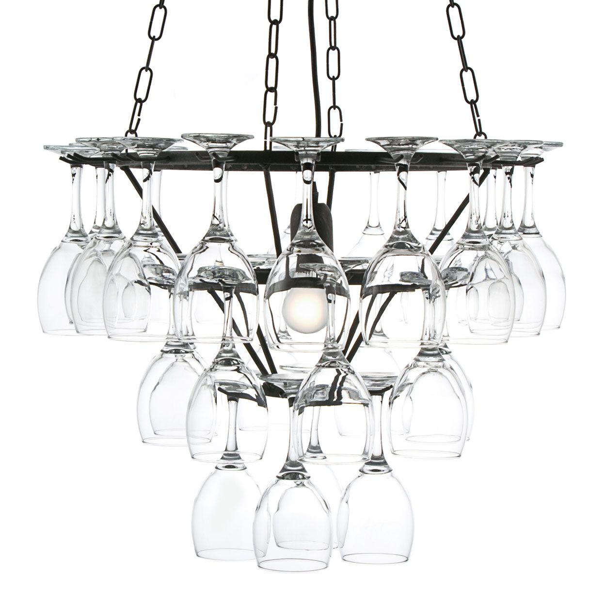 Wine glass chandlier home sweet home pinterest wine glass making moments with friends more pleasurabletecraft black silver 3 tier wine glass chandelier from debenhams arubaitofo Choice Image
