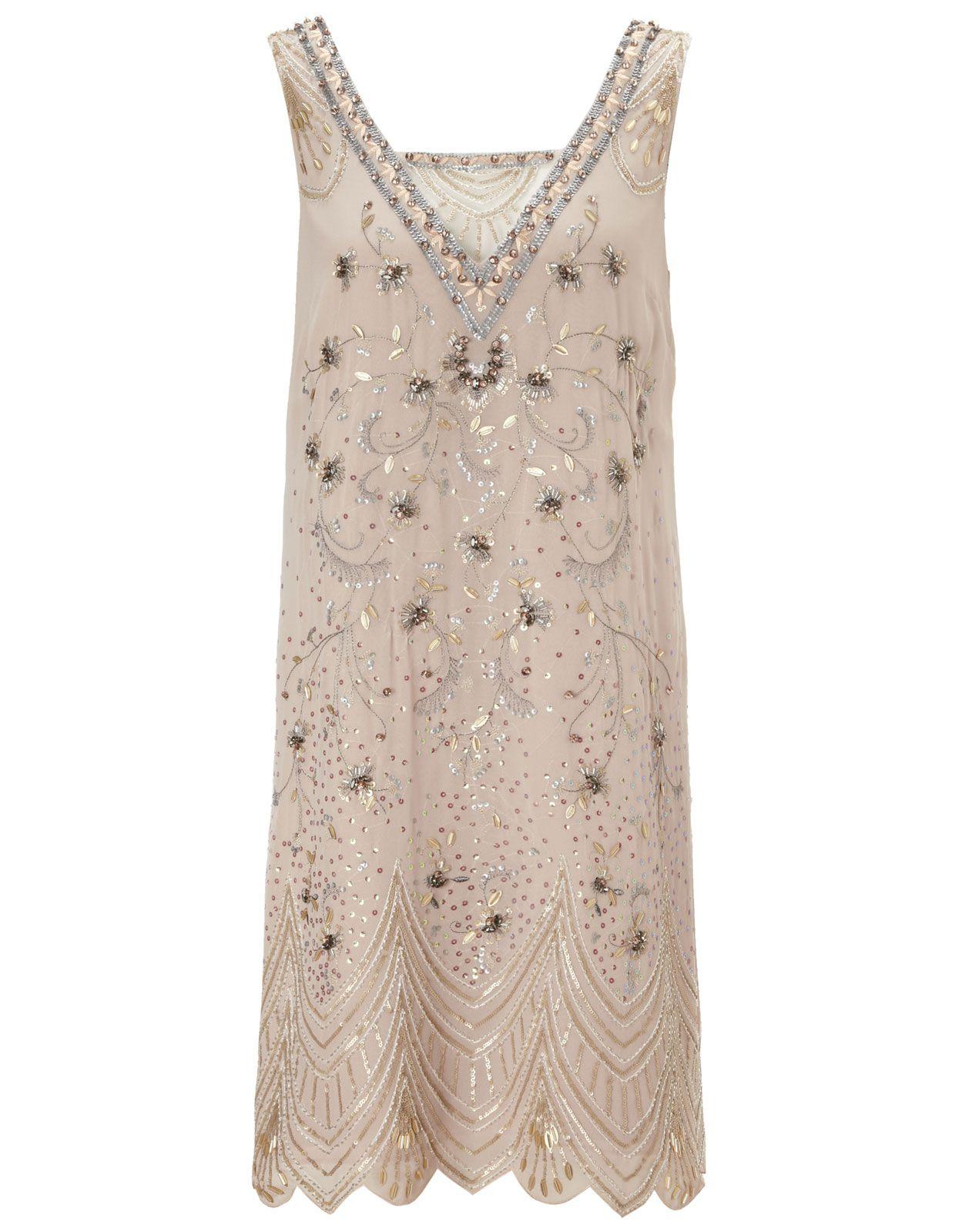 Josephine Dress  Gold  Monsoon  Kleider
