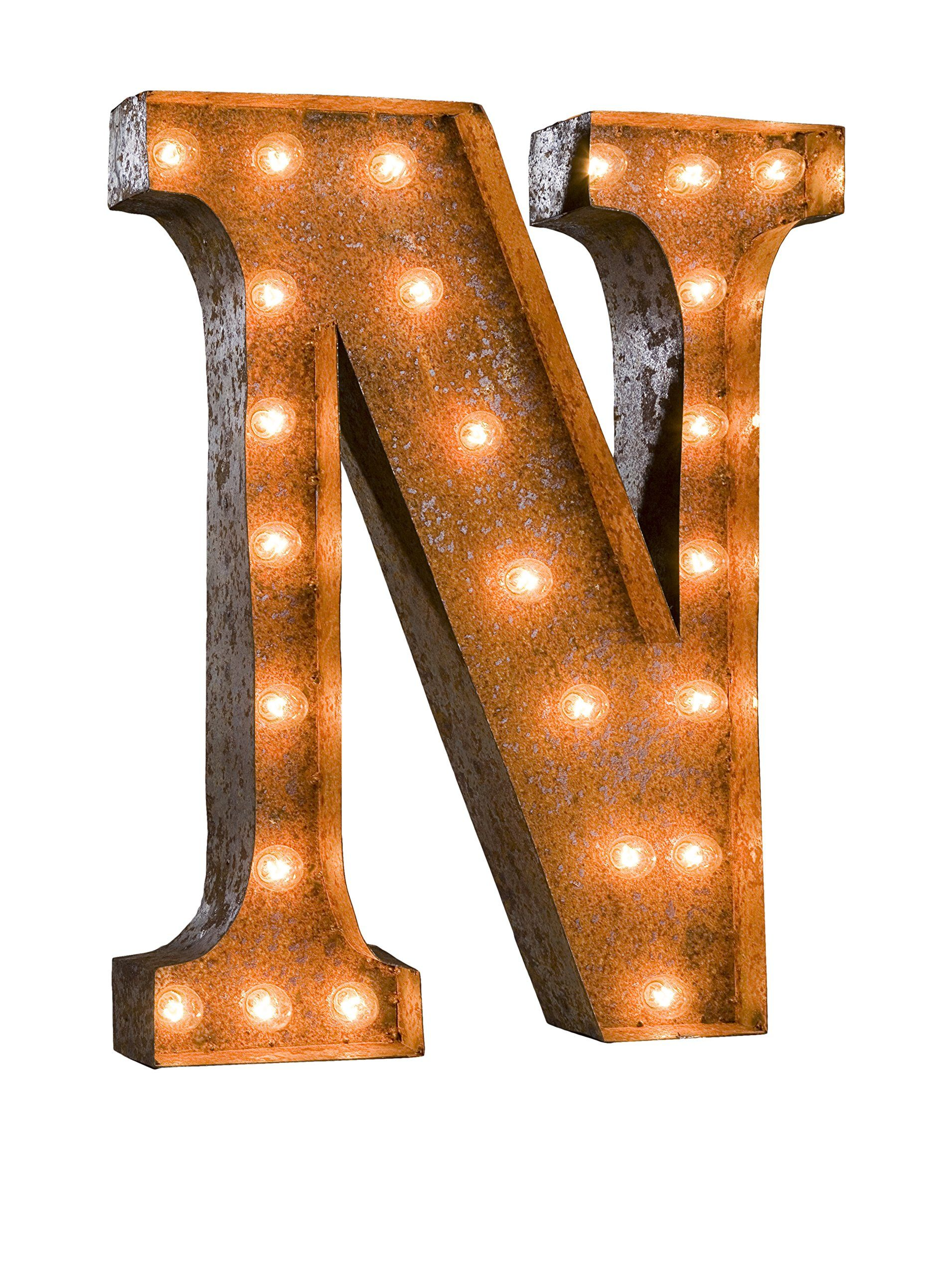 24 Vintage Inspired Letter N Marquee Light At Myhabit With