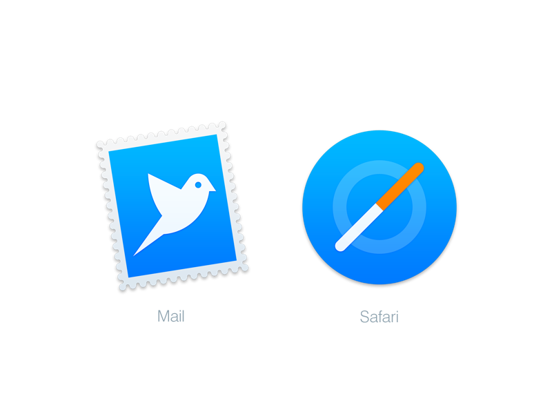 Mac Replacement Icons: Mail & Safari | icon | Icon design