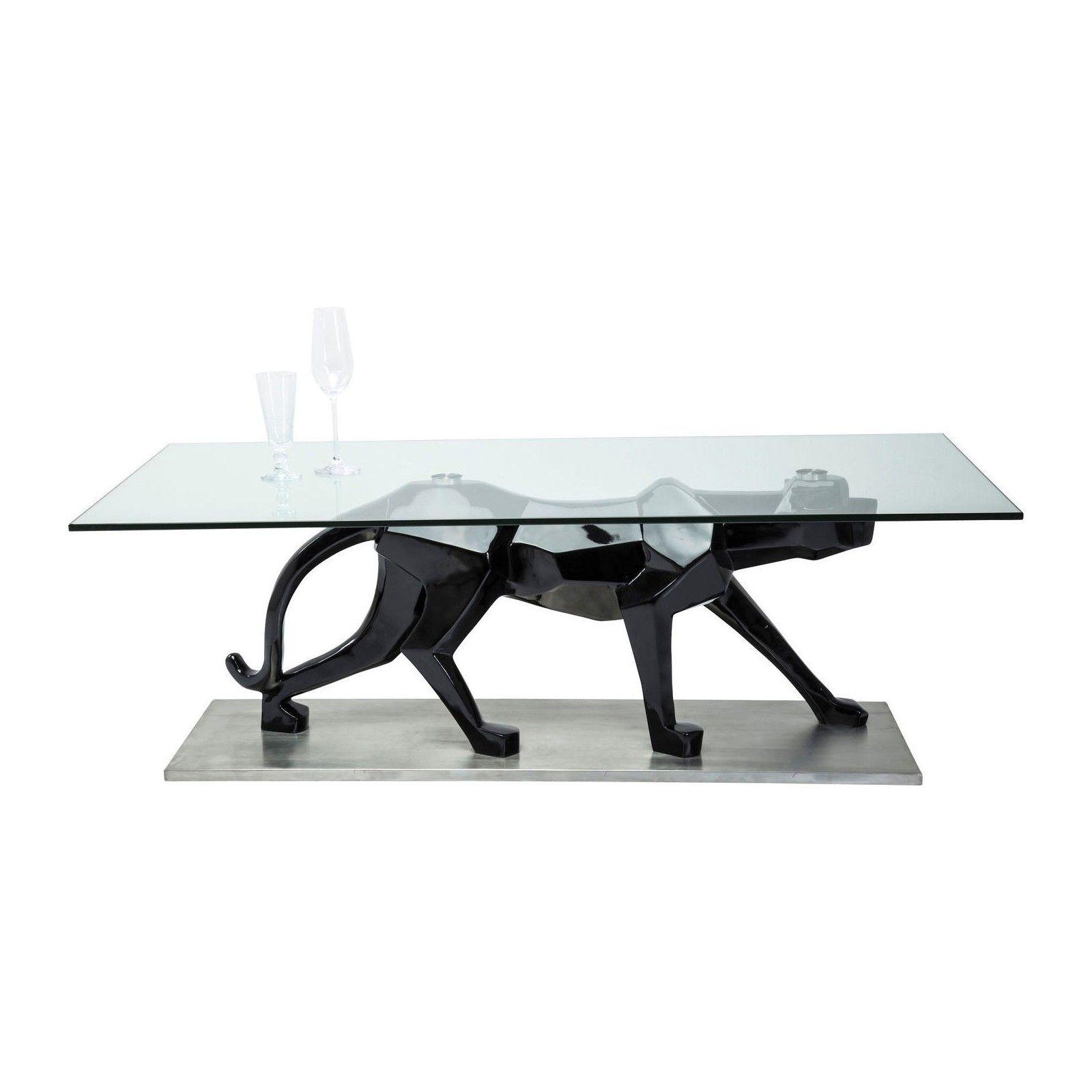 Table Basse En Verre Black Cat 140×70 Cm Kare Design Deco
