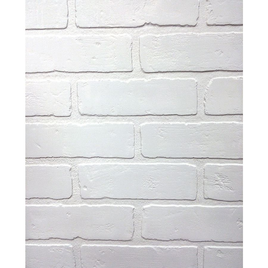 47 75 In X 7 98 Ft Embossed Paintable Brick Hardboard Wall Panel Lowes Com Faux Brick Panels Brick Wall Paneling Faux Brick Walls