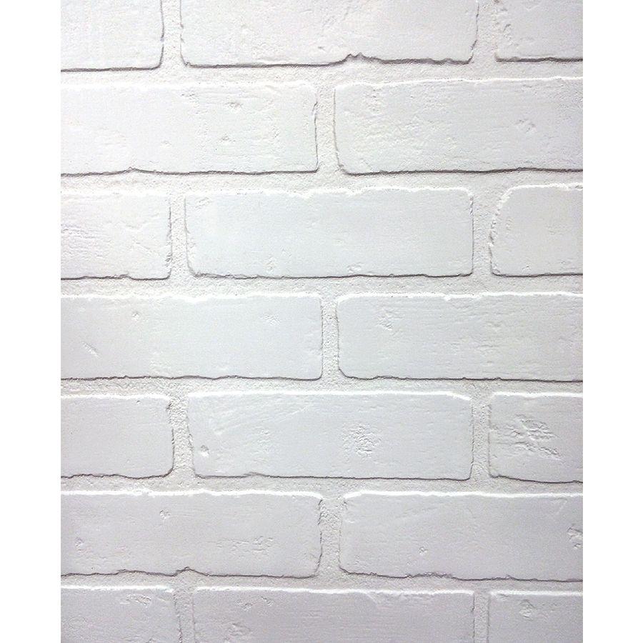 47 75 In X 7 98 Ft Embossed Paintable Brick Hardboard Wall Panel