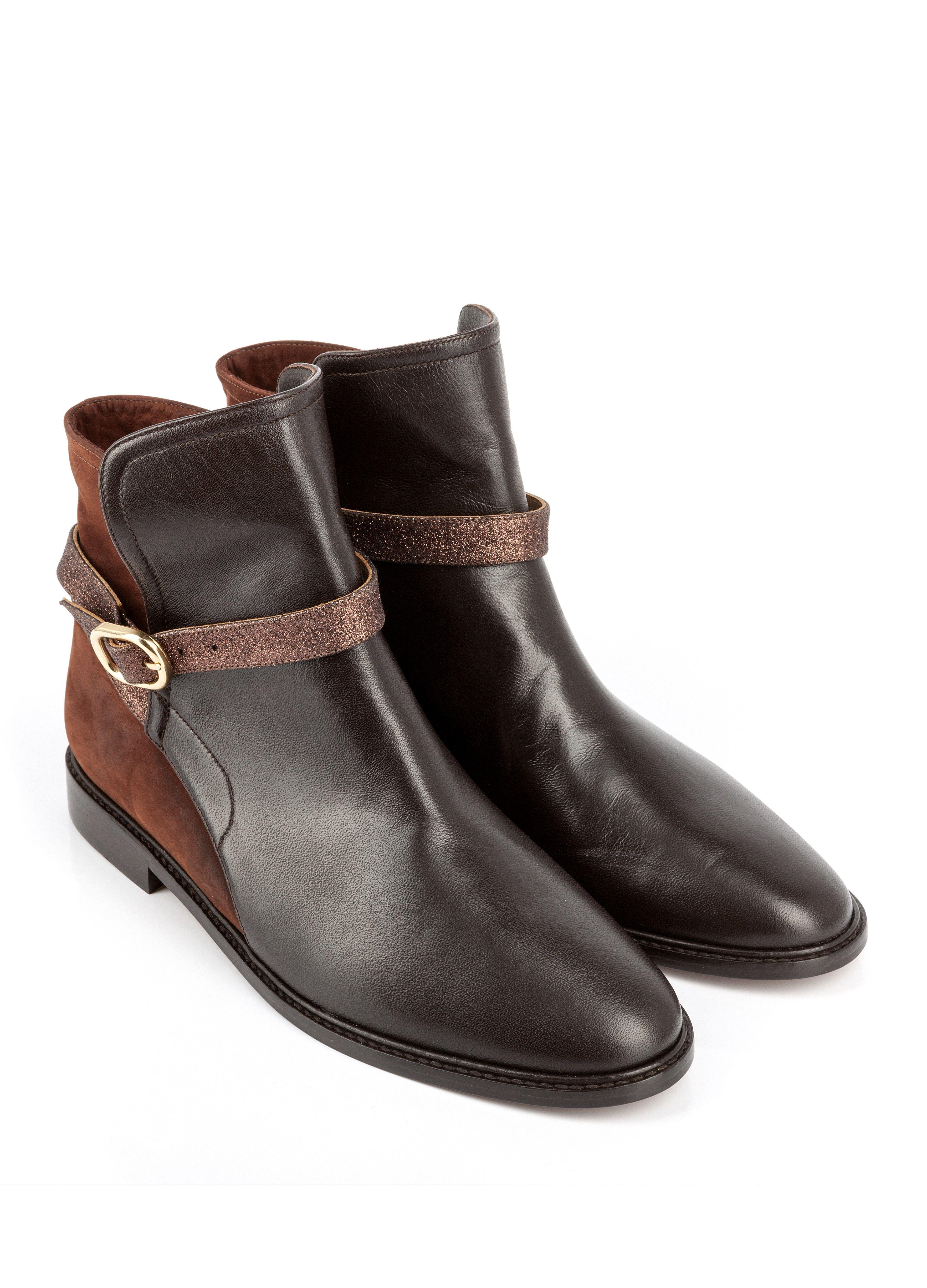 bottine truman marron - bottine plate - chaussures femme - femme