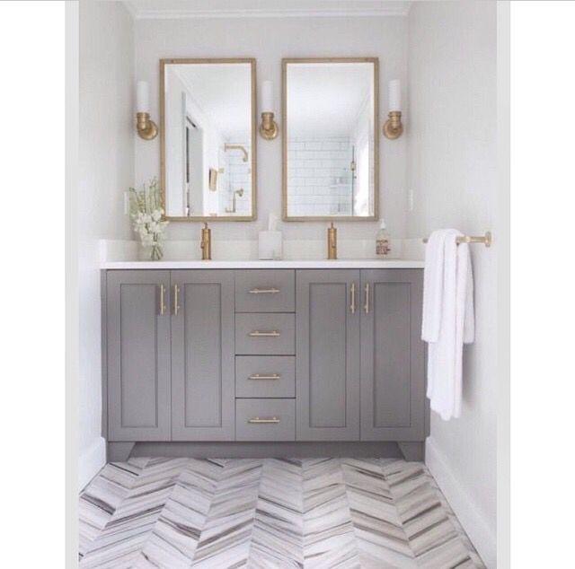 Dove Gray Gold Bathroom Tile Bathroom Bathroom Design Bathroom Inspiration
