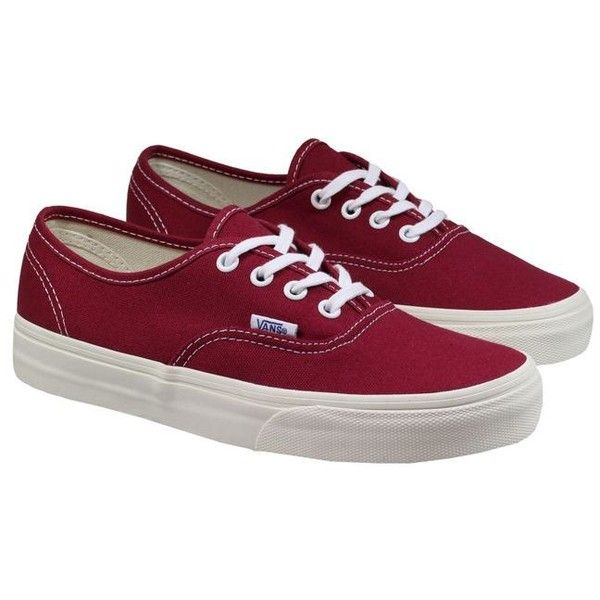 b575867bdd Vans Trainers Womens Authentic Burgundy Cream ( 70) ❤ liked on Polyvore  featuring shoes