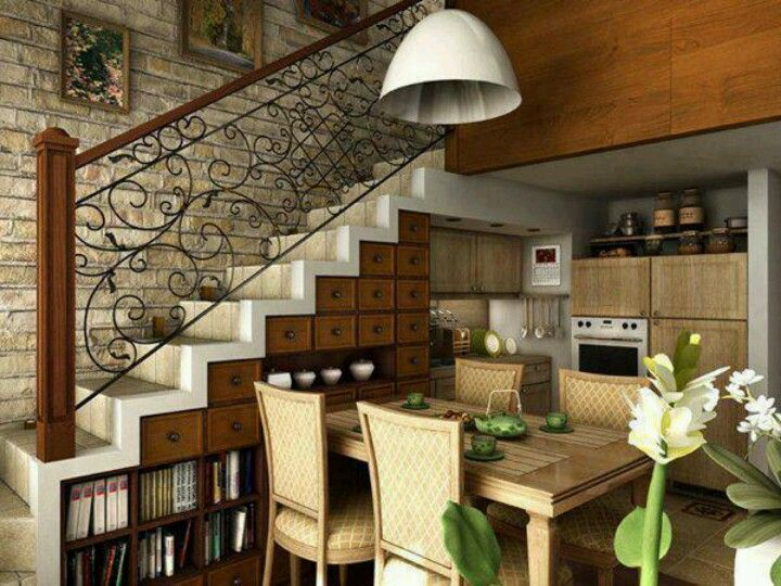 Great storage under the stairs
