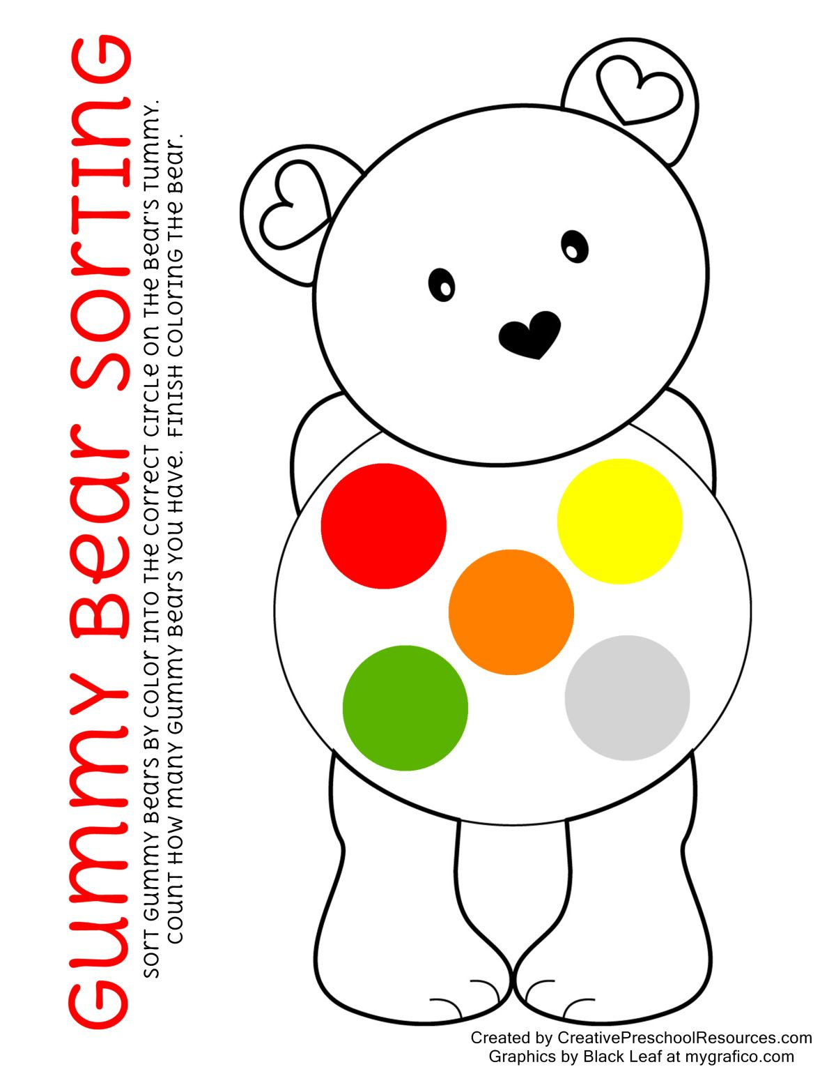 If You Love A Bear Worksheet