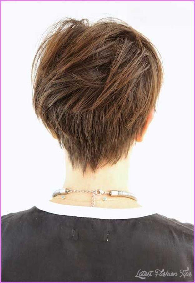 Cool Long Pixie Haircut Back View Latestfashiontips Pinterest