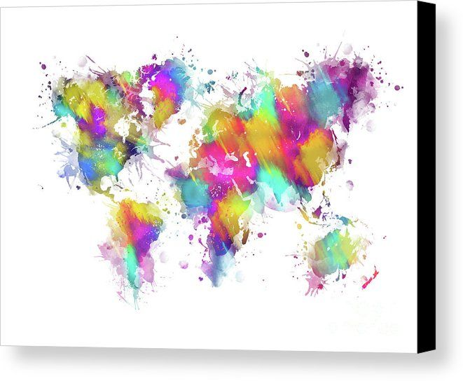 World map splash art canvas print canvas art by justyna jbjart world map splash art canvas print canvas art by justyna jbjart gumiabroncs Images