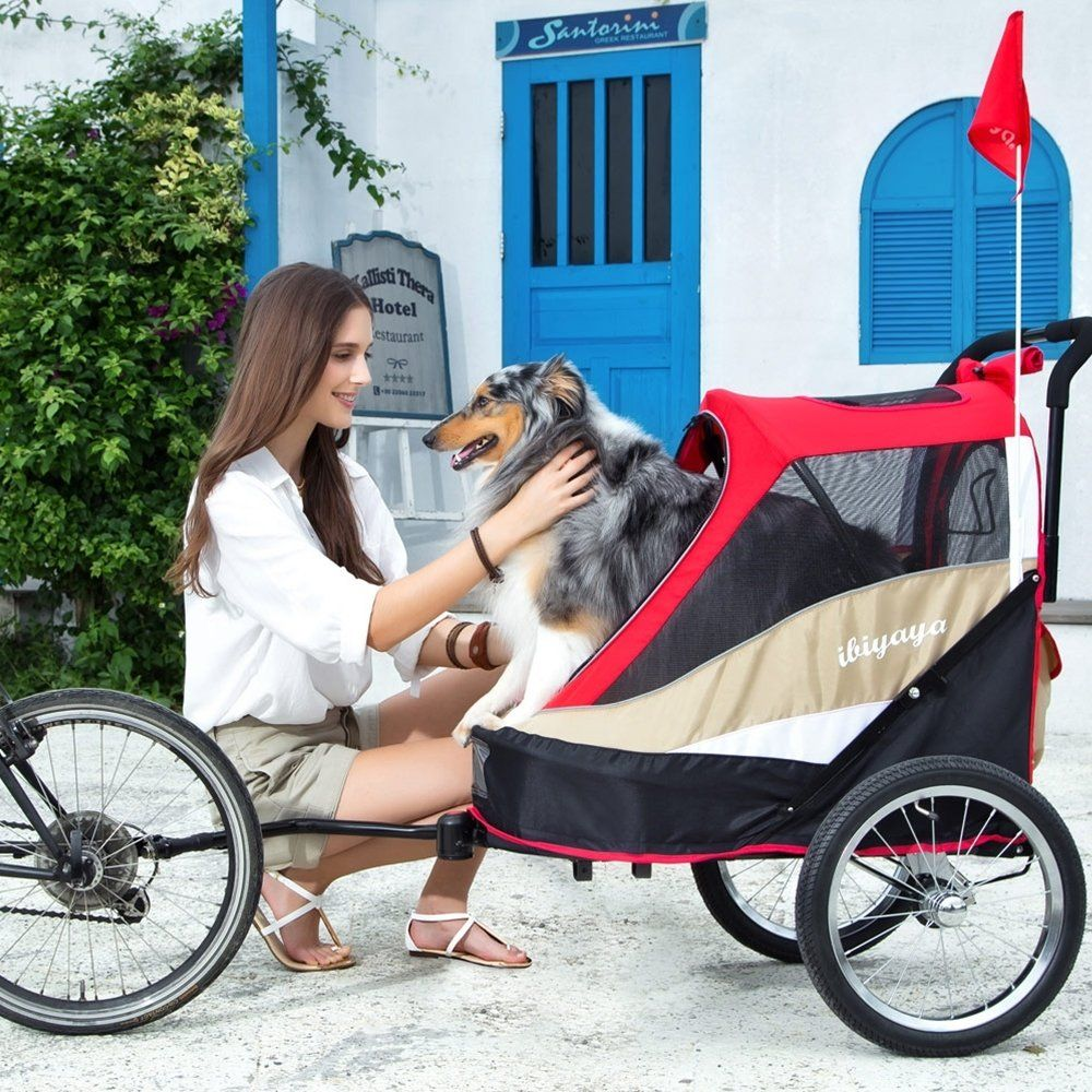 ibiyaya 2in1 Heavy Duty Dog Stroller/Pull Behind Bike