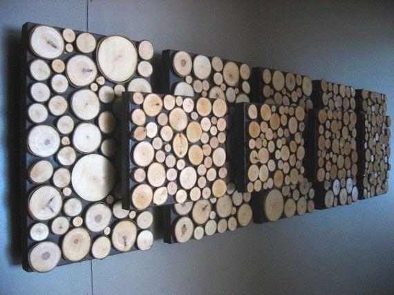 Tranche de bois sculpture abstraite wall decor arbre branche art fait sur commande fabriqu - Arbre fruitier comme bois de chauffage ...
