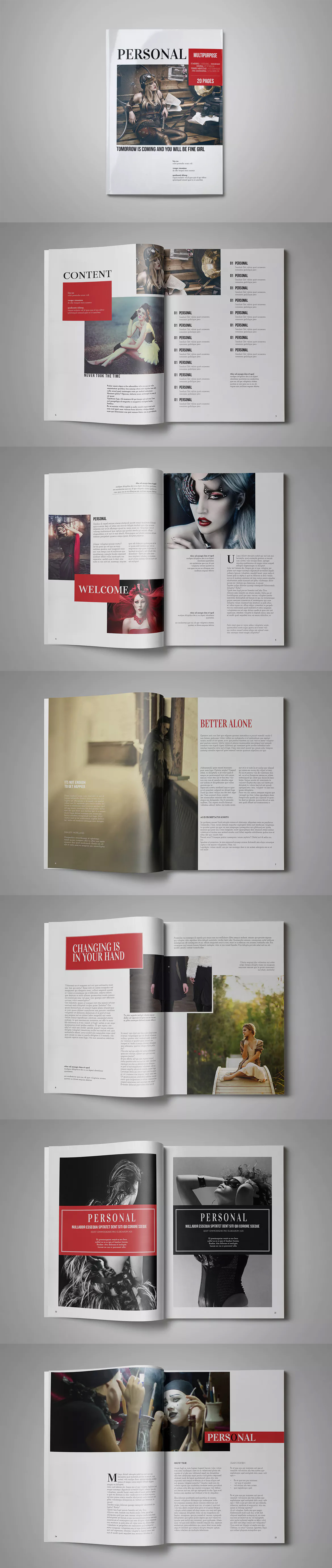Multipurpose Magazine Template InDesign INDD A4 | Laout magazine ...