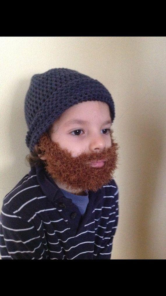 Handmade Crochet Santa Claus Beard hat PATTERN, Toturial pdf file ...