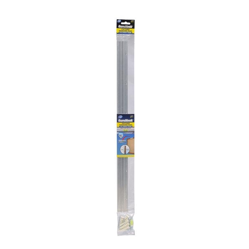Zenith 600mm Aluminium Surehook Picture Hanging Rail For Timber Frame Picture Hanging Hanging Rail Timber Frame