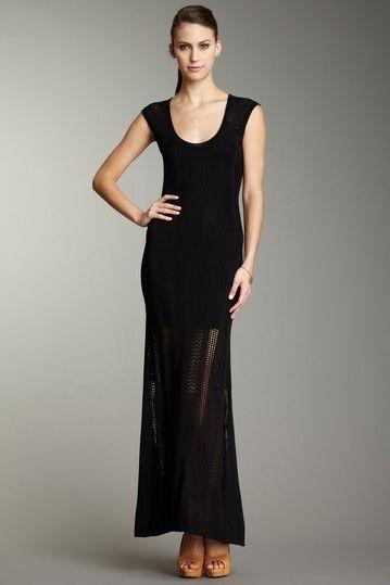 Damsel In A Dress Catherine Malandrino Short Sleeve Knit Maxi