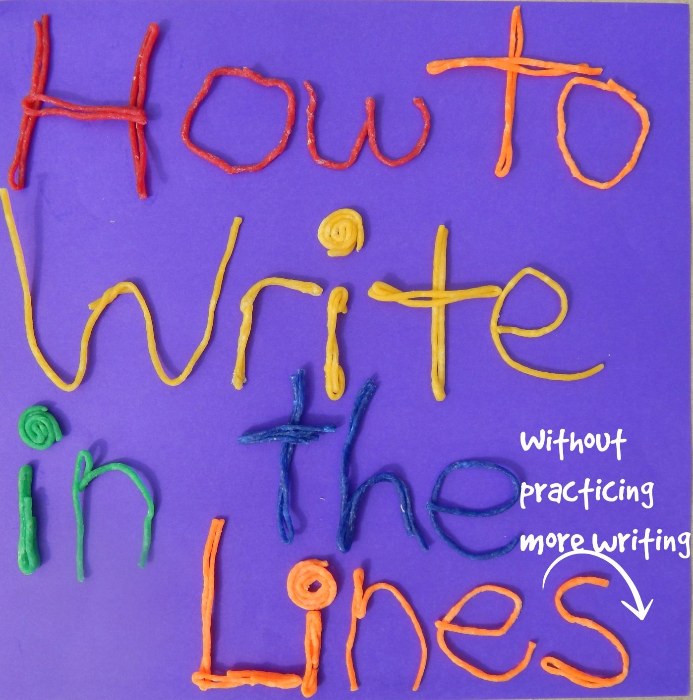 How To Keep Writing On The Lines