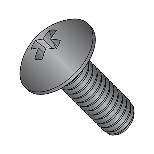 Zinc Plated Phillips Drive Round Head Pack of 100 Steel Sheet Metal Screw Type A #12-11 Thread Size 1 Length