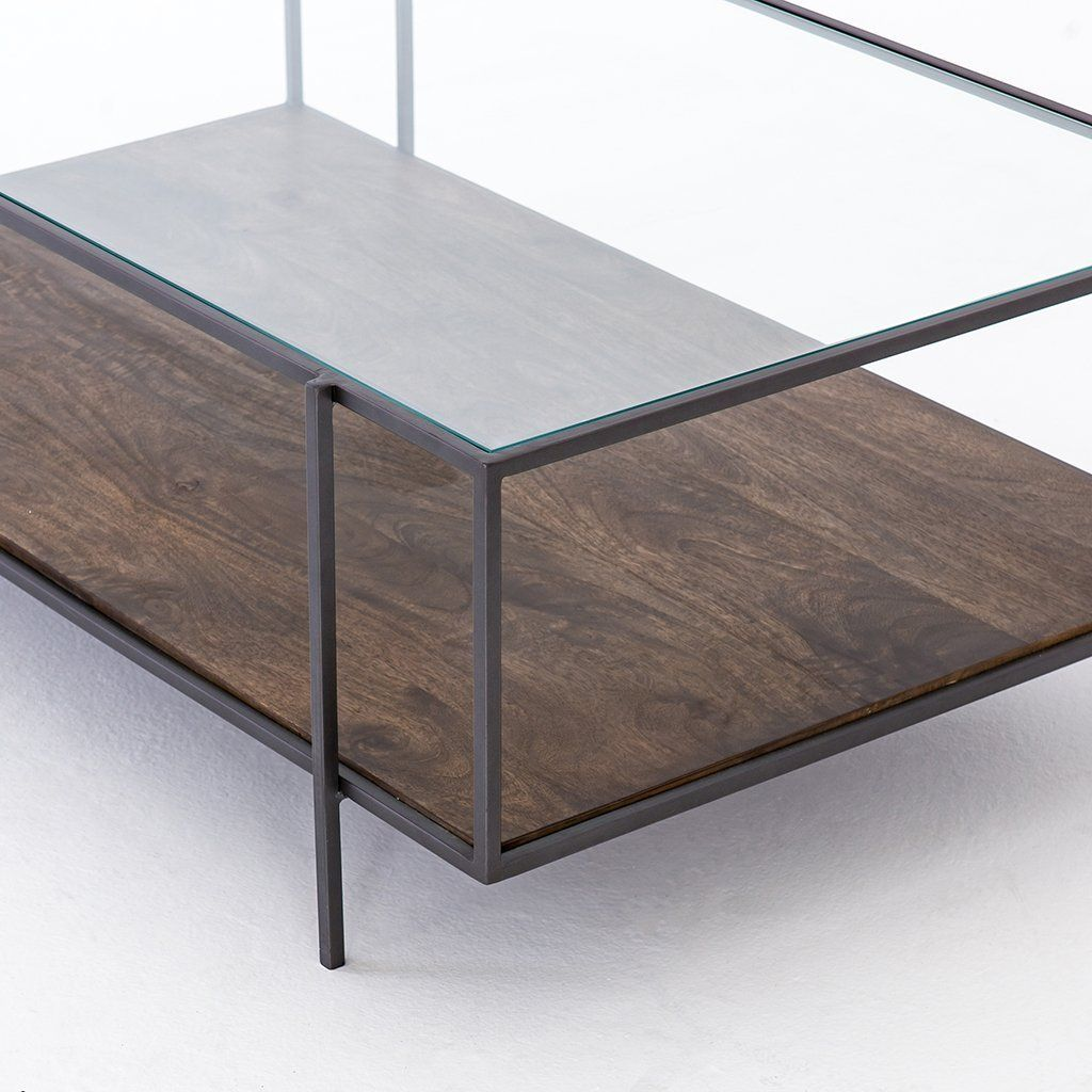Byron Coffee Table Glass shelves kitchen, Rustic coffee