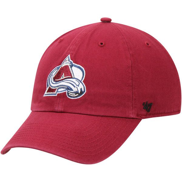 812cdfe7d68 Men s Colorado Avalanche  47 Burgundy Clean Up Adjustable Hat