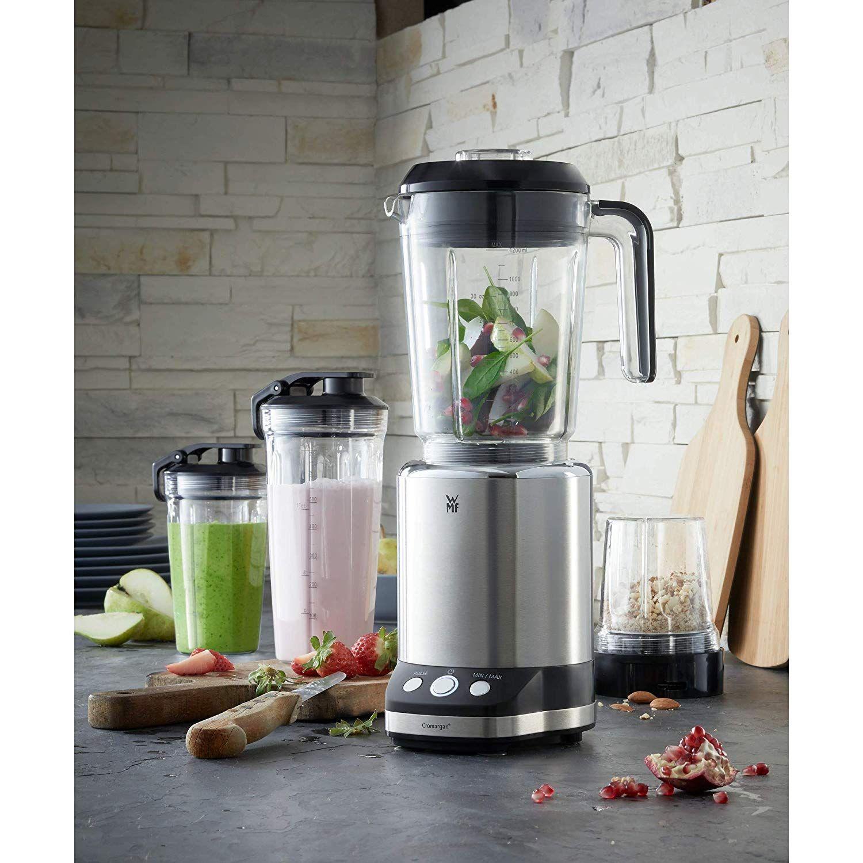 Amazon De Wmf Kult X Multifunktionsmixer 25 000 U Min 900 Watt 2 Geschwindigkeiten 4 Mixbehalter Togo Flasche Messere Blender Kitchen Appliances Kitchen
