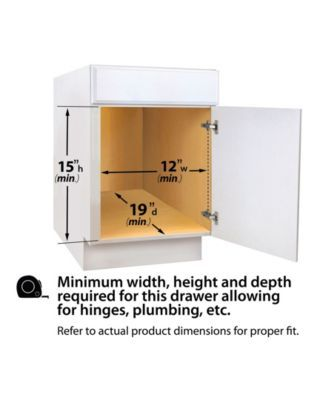 Lynk Professional Sink Cabinet Organizer With Pull Out 2 Tier