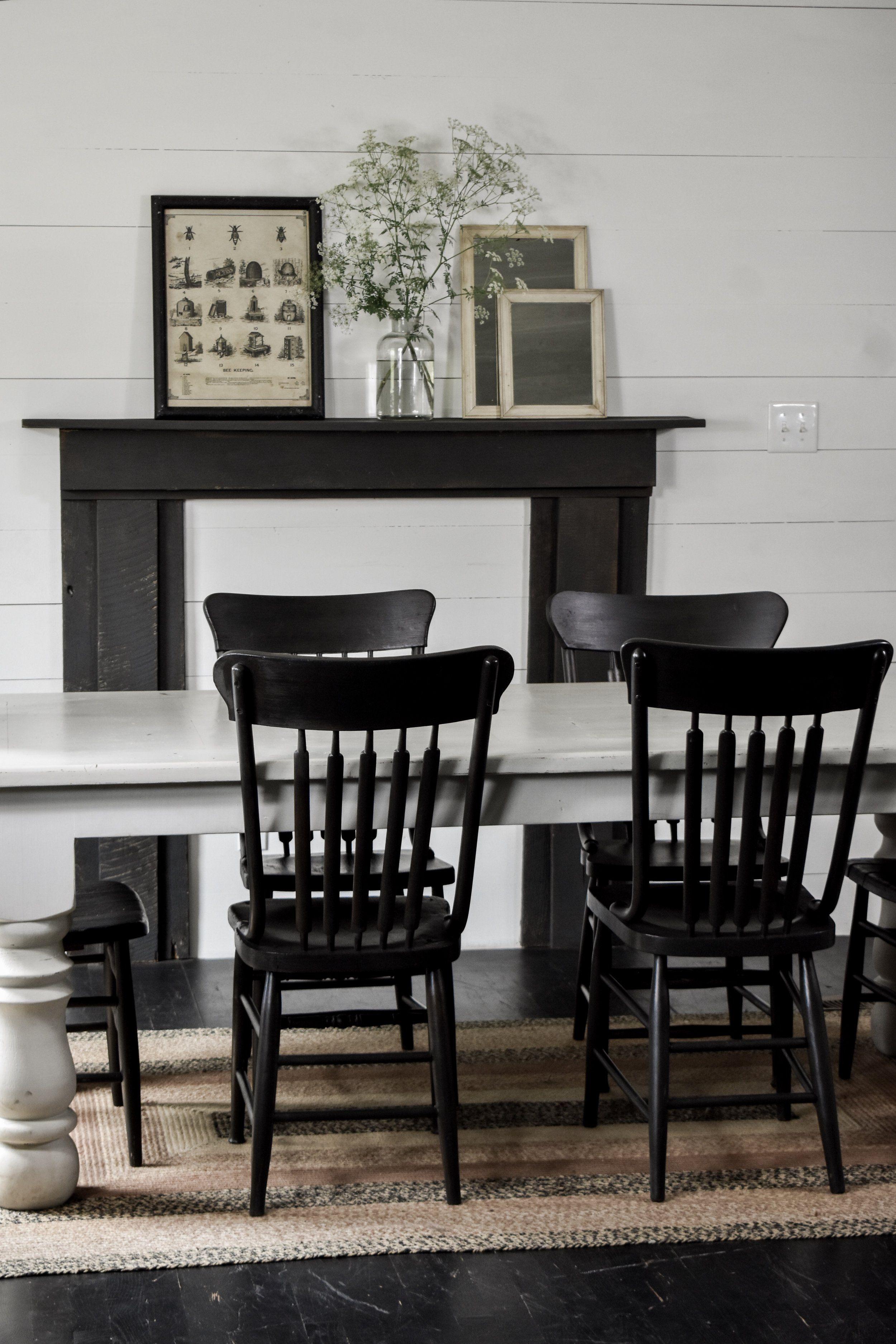 Rustic Black Farmhouse Dining Chairs Farmhouse Chairs Farmhouse