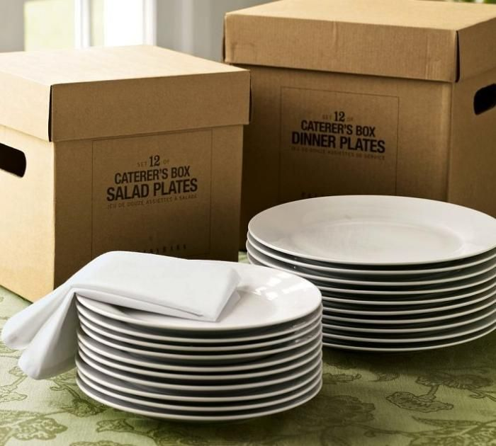 looking for a basic white set of dishes that i can change up for all seasons - these caterers plates from PB look pretty good & The white Caterer\u0027s 12-Piece Dinnerware Set includes a dozen dinner ...
