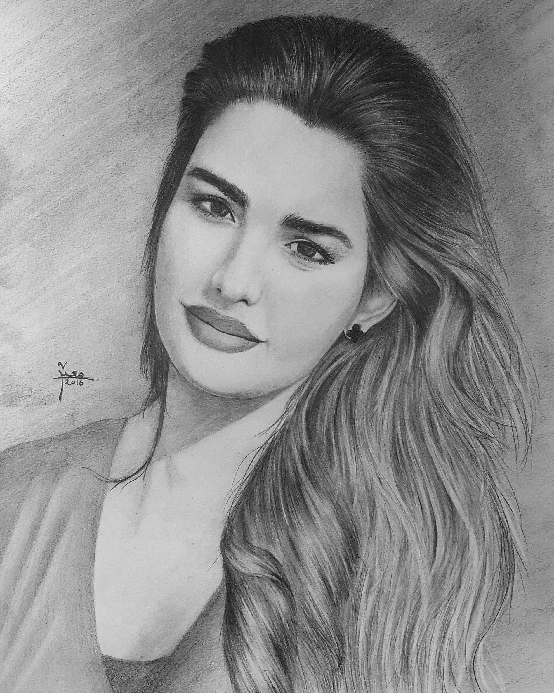 بورتريه Female Sketch Art Female