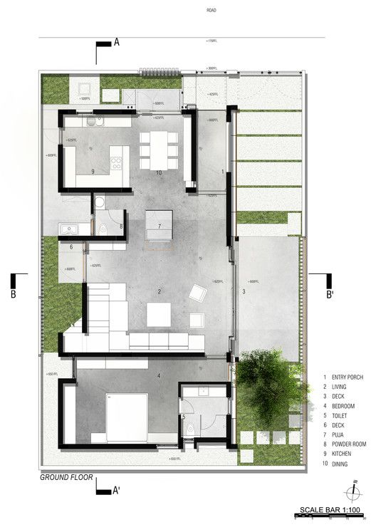 Gallery Of Badri Residence Architecture Paradigm 22 Architectural Floor Plans Architectural Design House Plans Architecture Plan