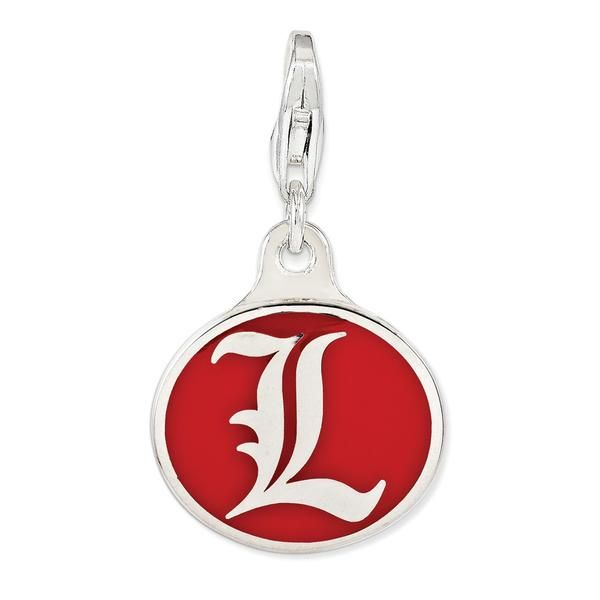 925 Sterling Silver Rhodium-plated Laser-cut University of Miami Large Crest Pendant