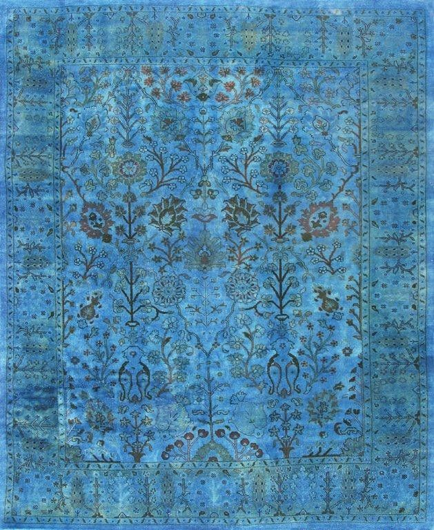 Overdyed Turquoise Rug OD12218 - Contemporary - Rugs