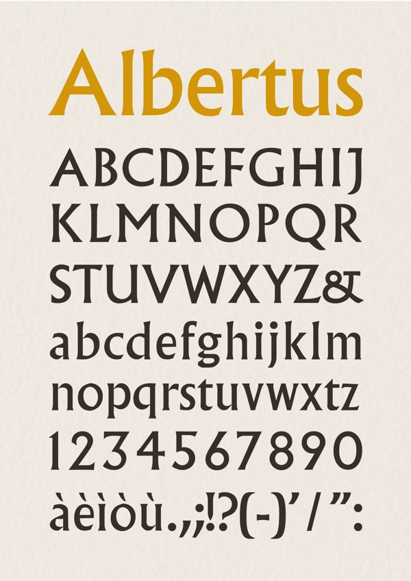 ALBERTUS FONT on Behance   Elégance   Typography fonts
