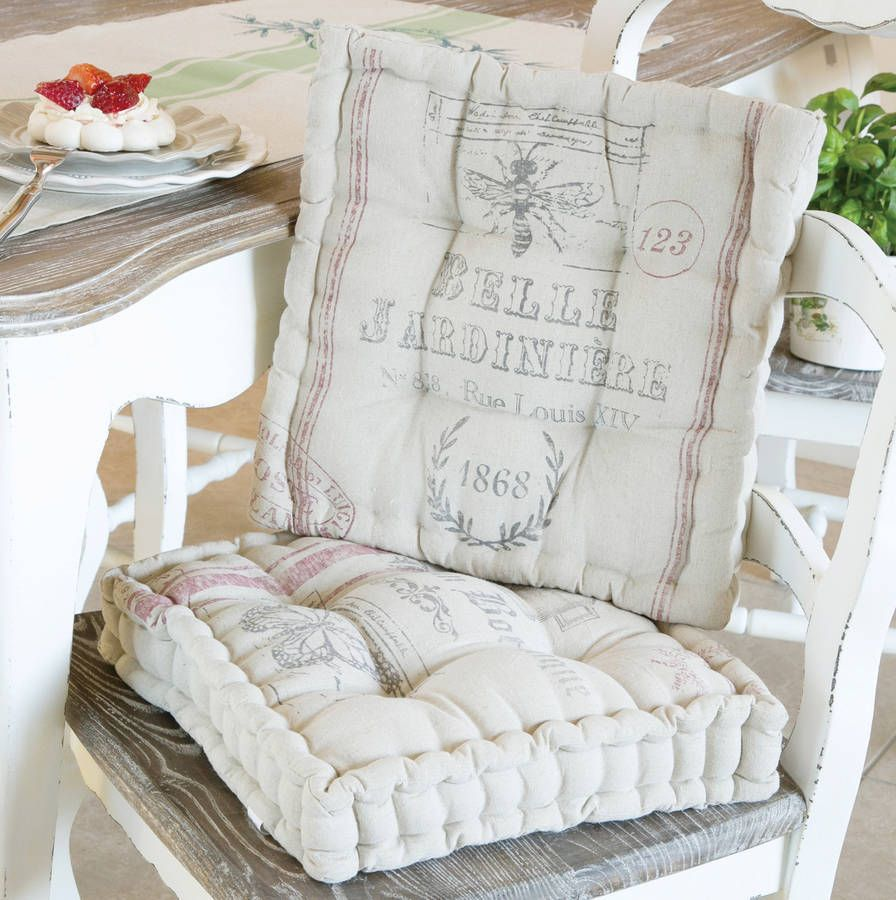 Belle Jardinere Linen Seat Pad  Seat Pads Belle And Linens Classy Dining Room Chair Seat Pads Decorating Inspiration