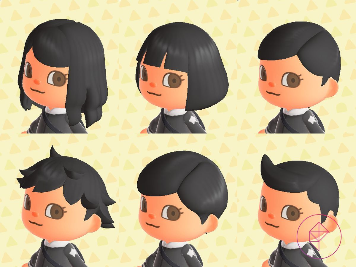 Animal Crossing New Horizons Switch Hair Guide Polygon In 2020 Animal Crossing Characters Animal Crossing Hair Animal Crossing Hair Guide
