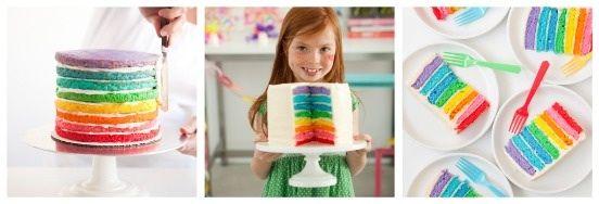 Cute rainbow cake... Easy to homemade