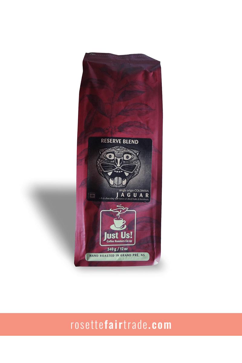 Just Us! Jaguar espresso coffee beans (Honduras) Rosette