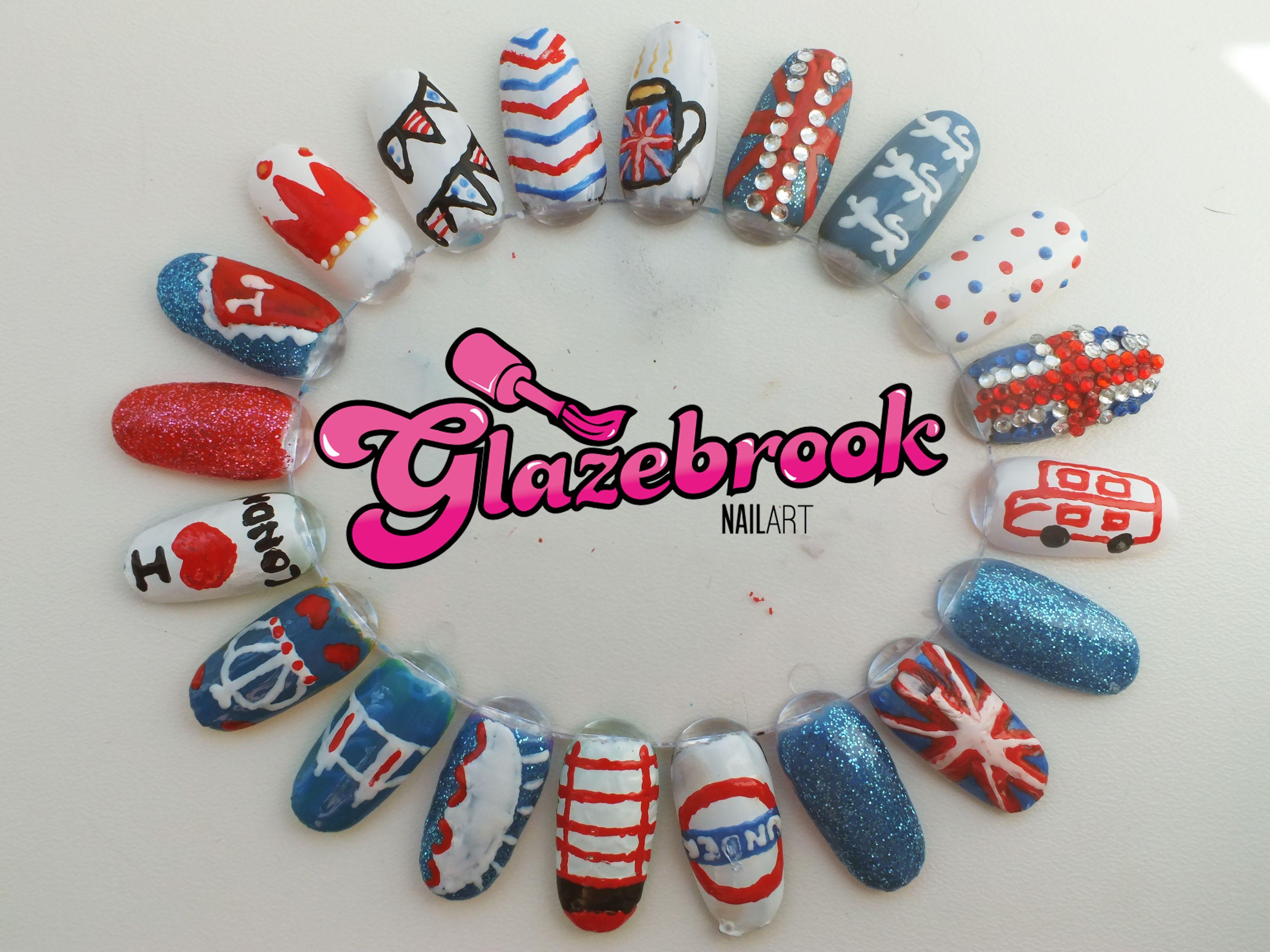 British Nail Art Ideas Nails Pinterest British