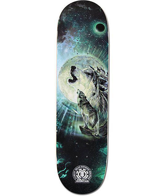 Element Wolf Song 8 25 Skateboard Deck Skateboard Decks Skateboard Moon Graphic
