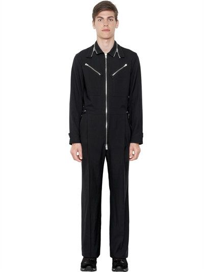 5b1584767a2 GIVENCHY Zip-Up Wool Twill Jumpsuit