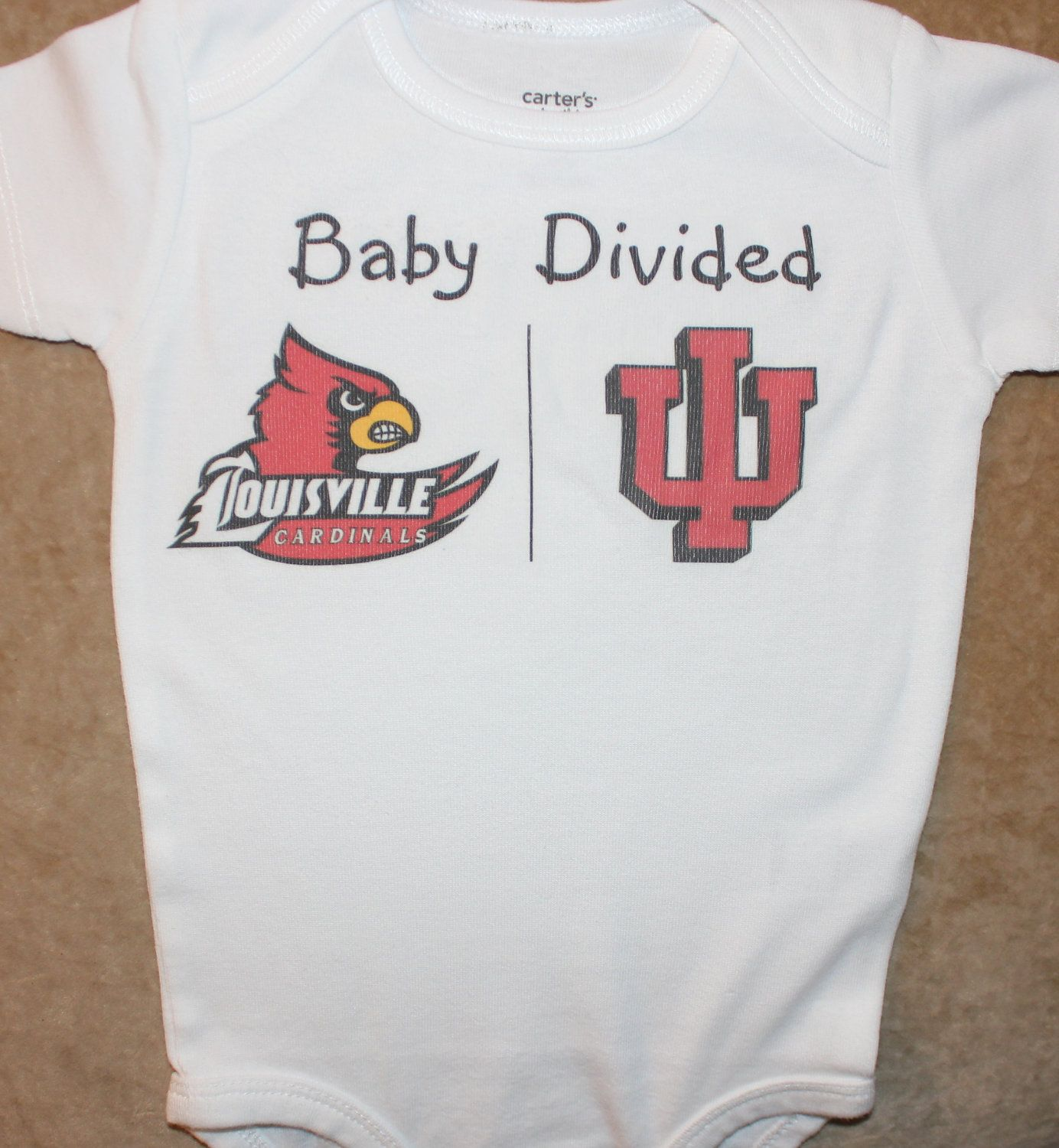 I will need this in IU Purdue someday Baby Divided onesie or