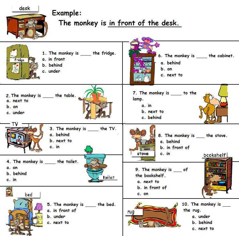 Arbeitsblatt Präpositionen A1 : Ingles a niños buscar con google english pinterest