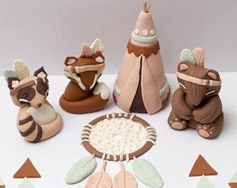 Fondant tribal woodland animals - Estimated arrival: August 9th-11th